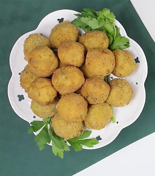 Crocchette di patate  e funghi con Estratto  Vegetale Liebig