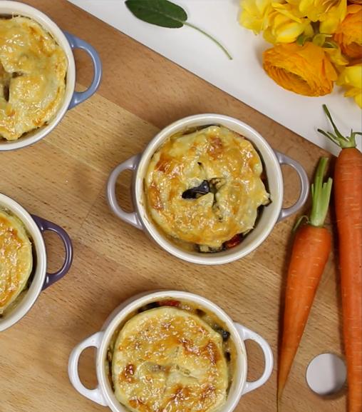 Pie di verdure con estratto Vegetale Liebig