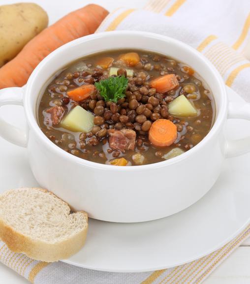 Zuppa di lenticchie con Estratto per brodo vegetale Liebig