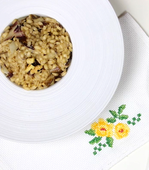 Orzotto al radicchio con Estratto vegetale Liebig