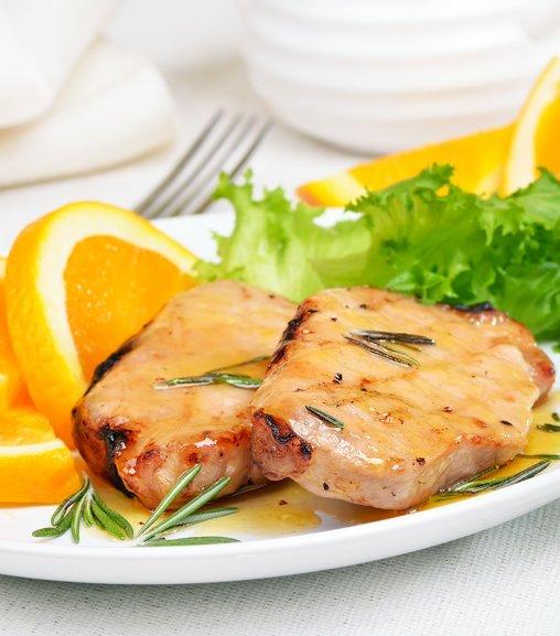 Filetto di maiale in salsa di arancia con Estratto di carne Liebig