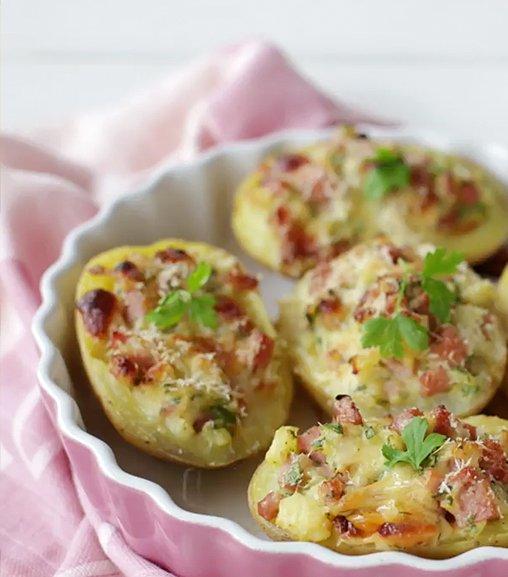 Barchette di patate ripiene